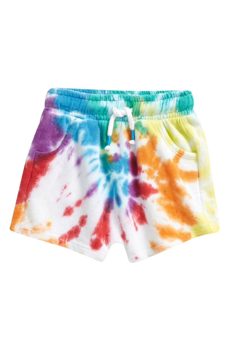 TUCKER + TATE Pull-On Shorts, Main, color, RED FIERY TIE DYE
