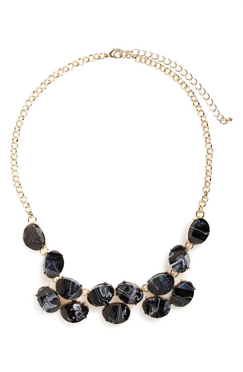 BP. Faceted Statement Necklace, Main, color, 001