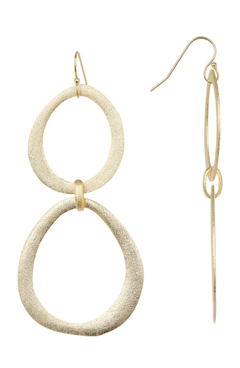 RIVKA FRIEDMAN 18K Gold Clad Organic Cascading Station Graduated Earrings, Main, color, no color