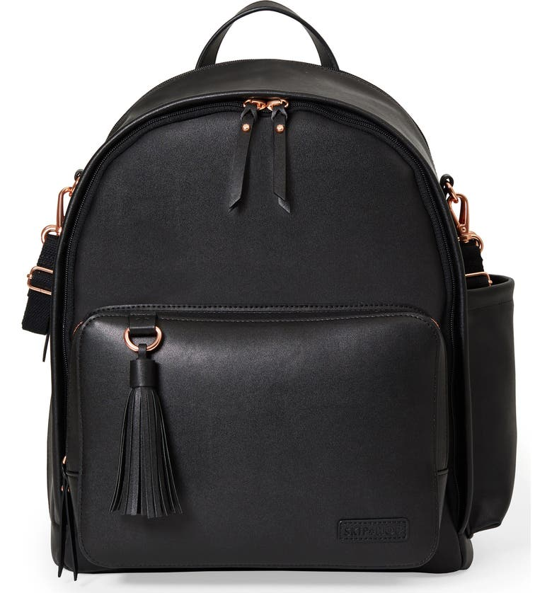 SKIP HOP Greenwich Simply Chic Diaper Backpack, Main, color, 001