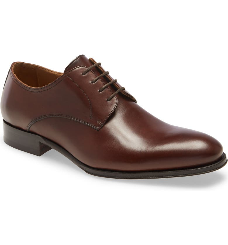 TO BOOT NEW YORK Declan Plain Toe Derby, Main, color, CACAO