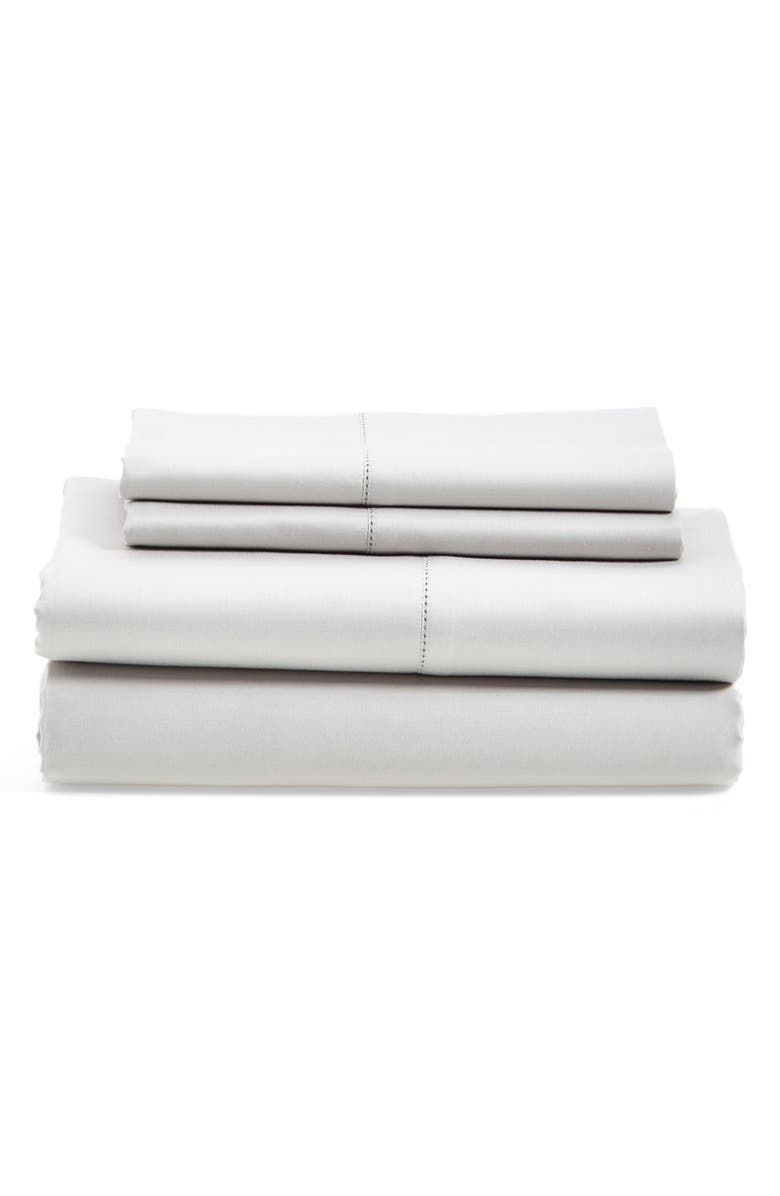 NORDSTROM 600 Thread Count Egyptian Cotton Single Sheets, Main, color, 020