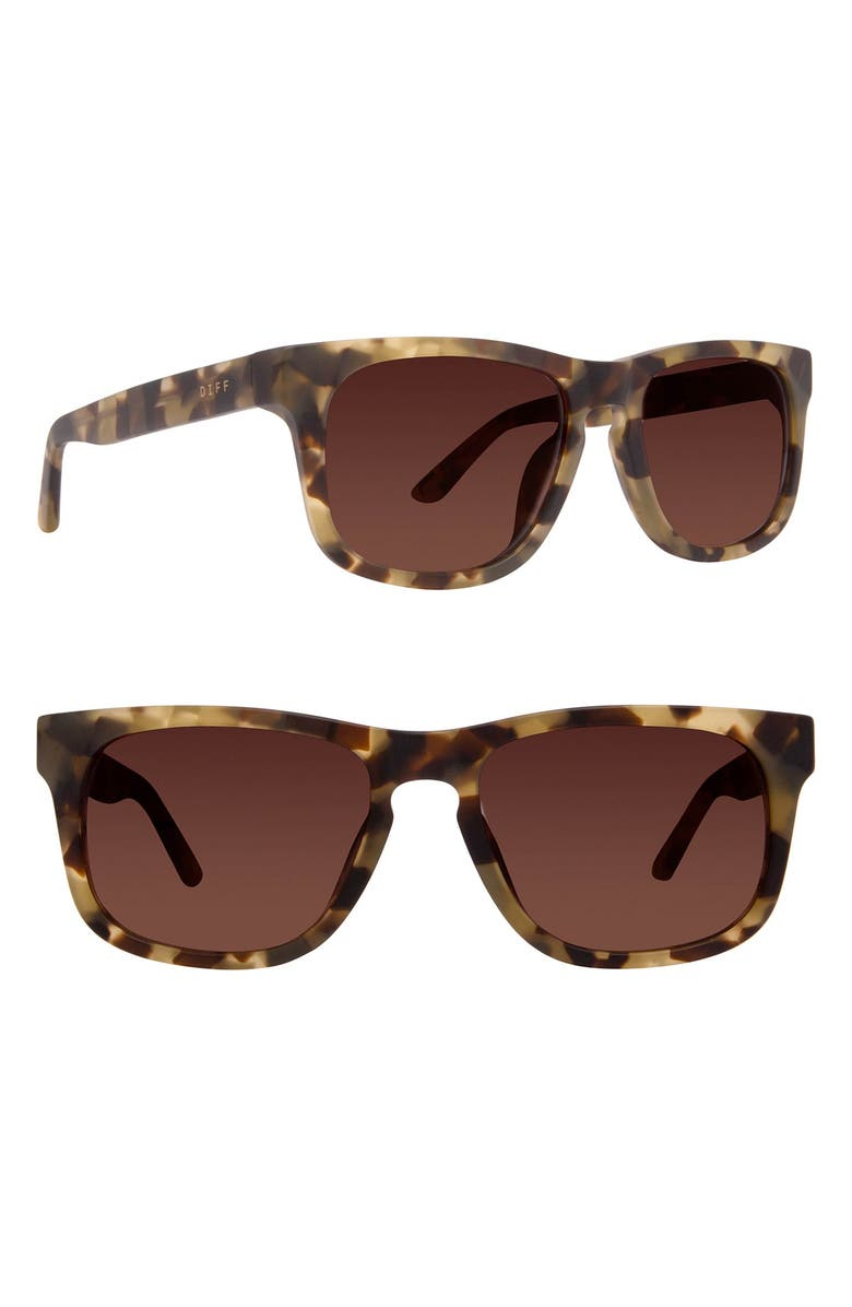 DIFF Riley 52mm Sunglasses, Main, color, GREEN/ BROWN