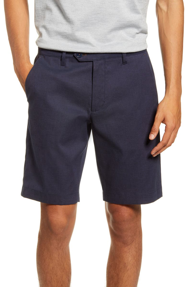 TED BAKER LONDON Cortrom Slim Fit Shorts, Main, color, NAVY