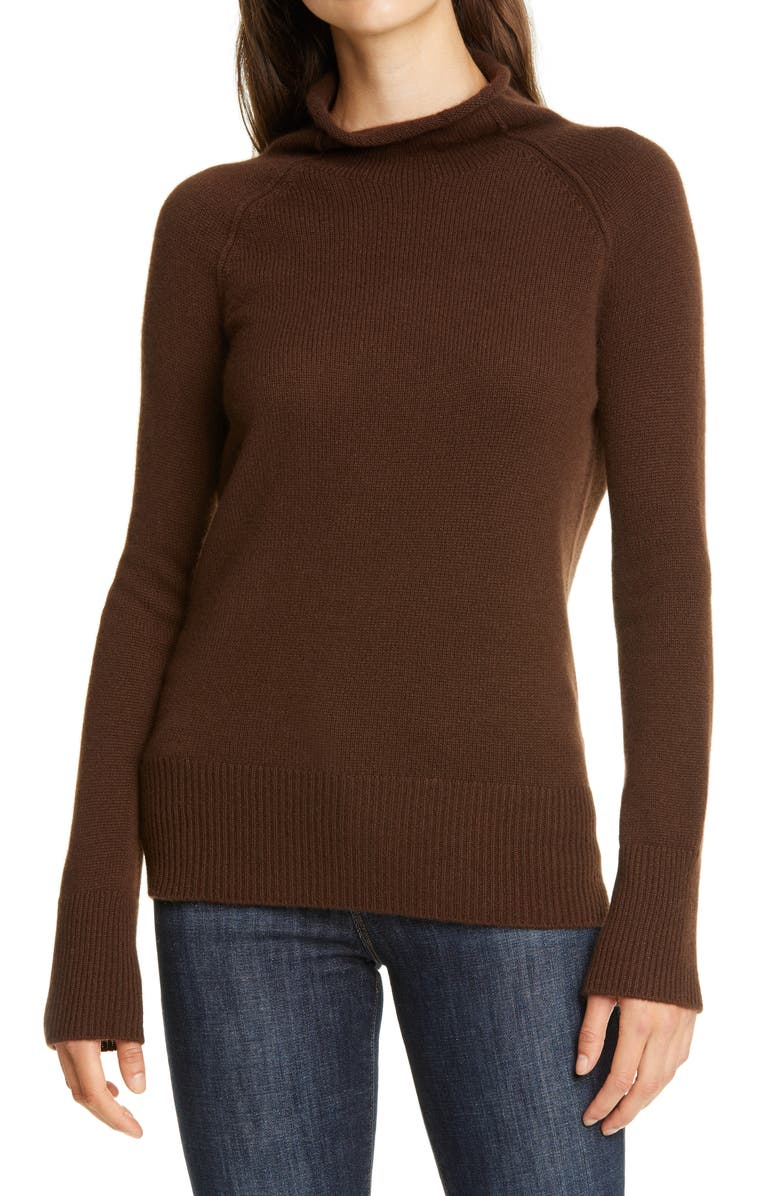 THEORY Karinello Funnel Neck Cashmere Sweater, Main, color, 200