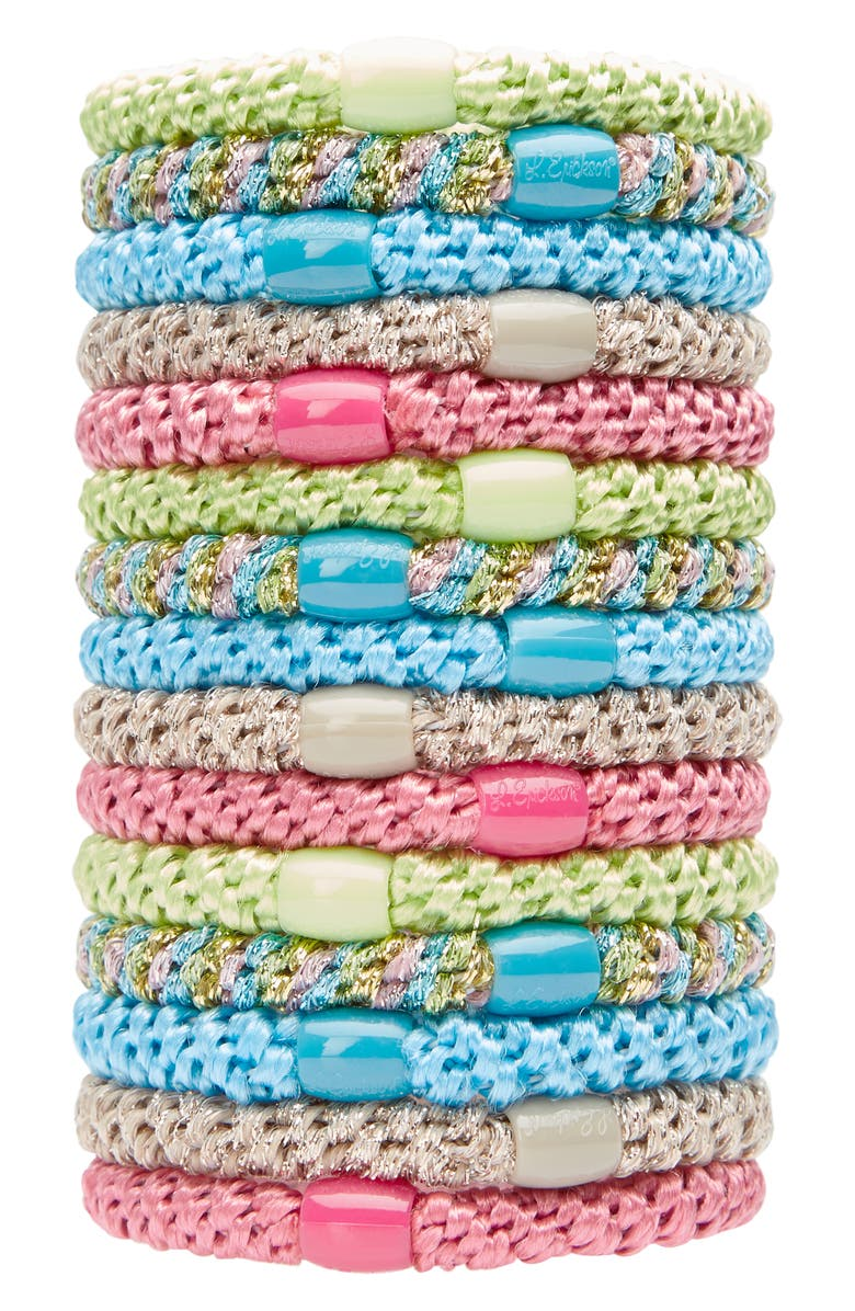 L. ERICKSON Grab & Go Set of 15 Ponytail Holders, Main, color, IPANEMA