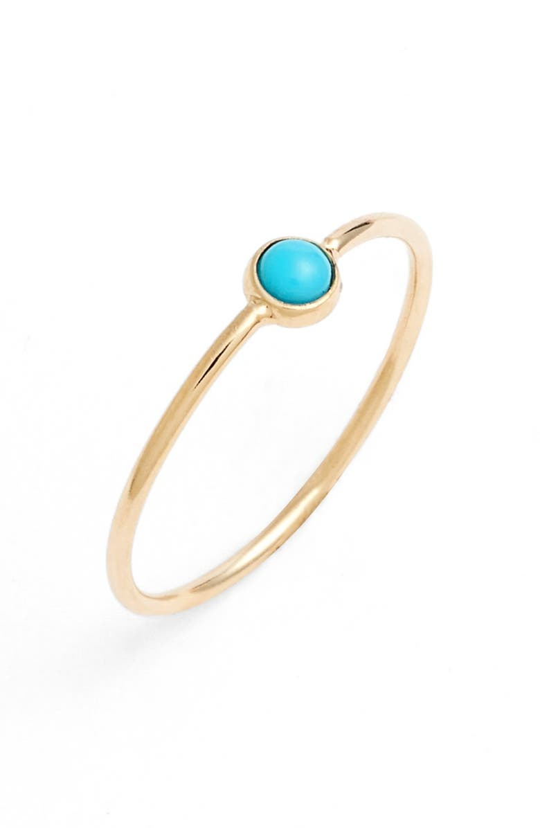 ZOË CHICCO Turquoise Stacking Ring, Main, color, 400