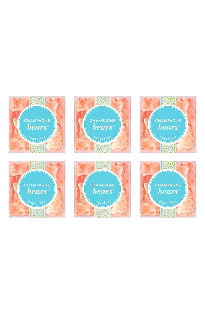 SUGARFINA Set of 6 Champagne Bears<sup>®</sup> Candy Cubes, Main, color, 650