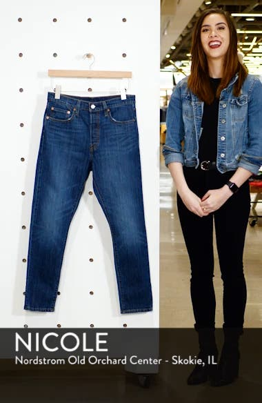 501<sup>®</sup> High Waist Ankle Skinny Jeans, sales video thumbnail