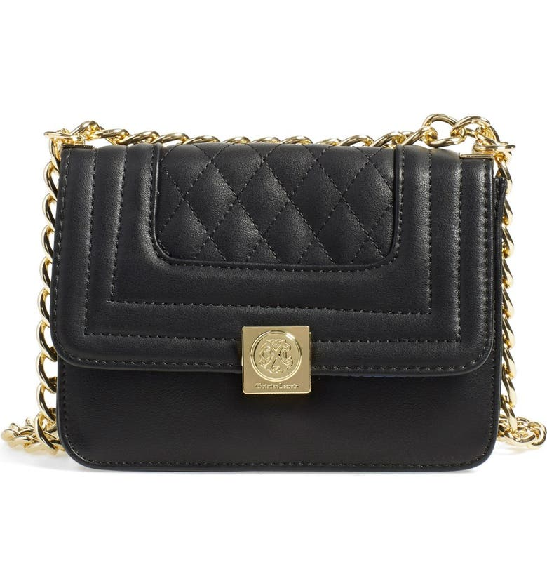 CXL BY CHRISTIAN LACROIX 'Galaxie' Quilted Convertible Crossbody Bag, Main, color, Black