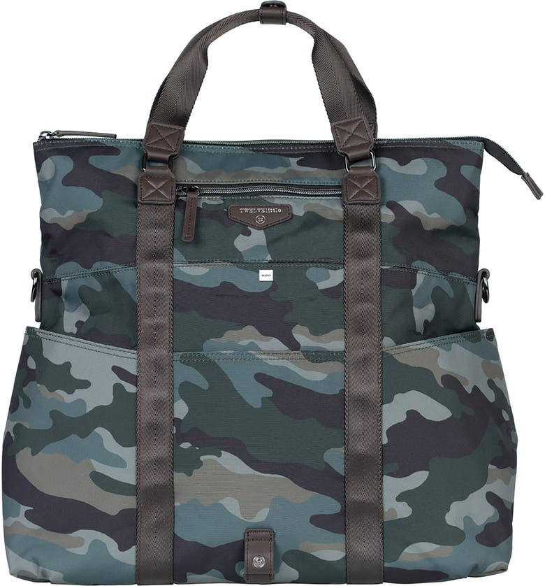 TWELVELITTLE Courage 3-in-1 Foldover Diaper Tote, Main, color, CAMO