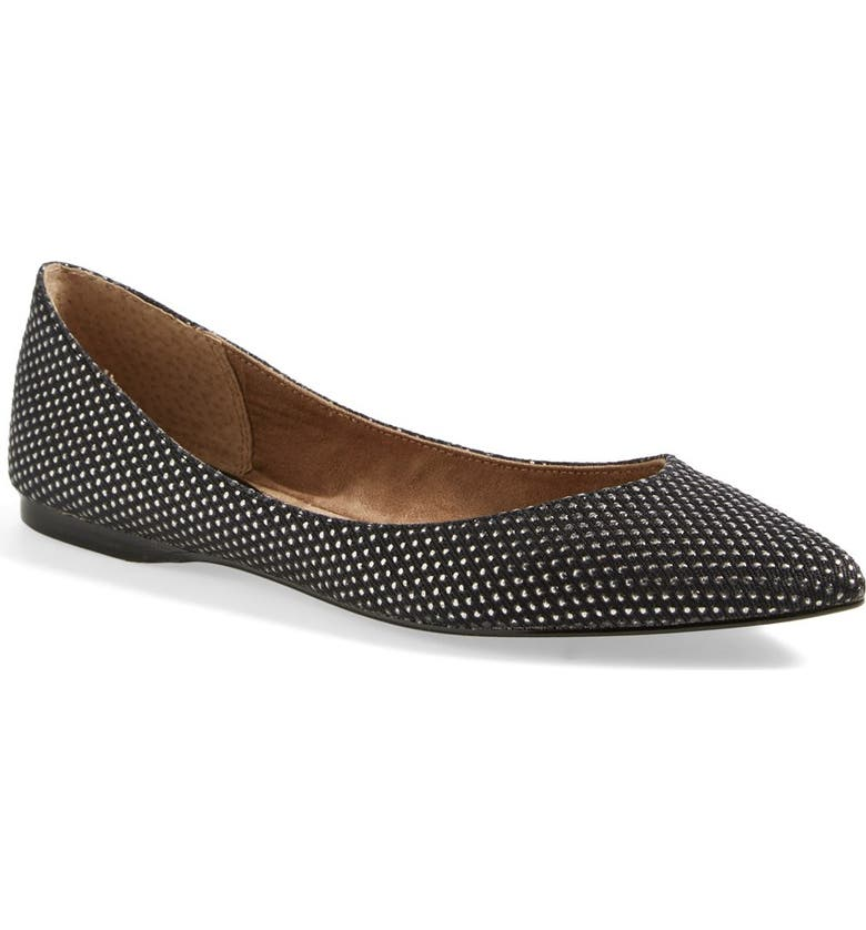 BP. 'Moveover' Pointy Toe Flat, Main, color, 004