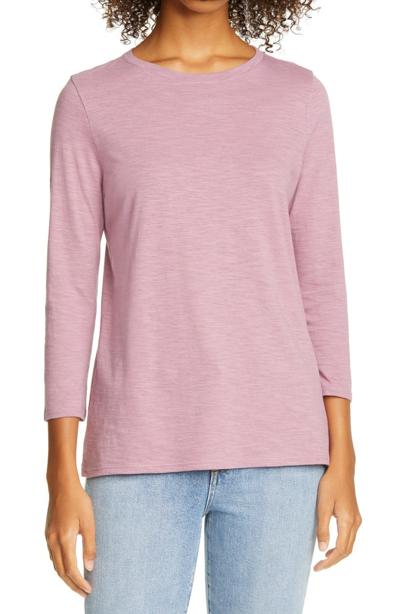 NORDSTROM SIGNATURE Scoop Neck Cotton Blend Tee, Main, color, 510