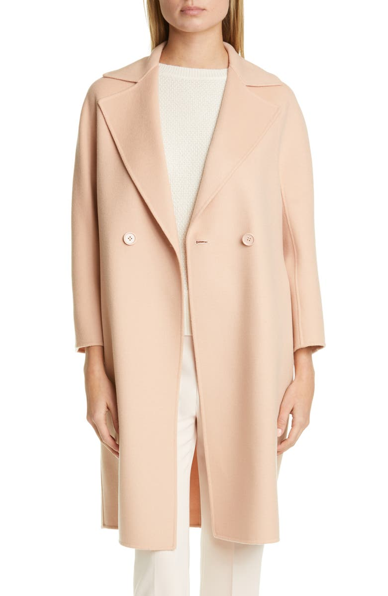 MAX MARA Ode Double Breasted Wool Blend Coat, Main, color, 250