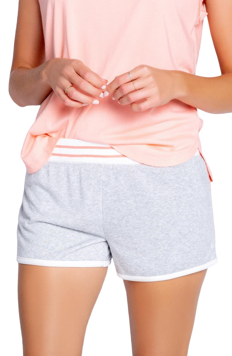 PJ SALVAGE Roller Lounge Shorts, Main, color, HEATHER GREY