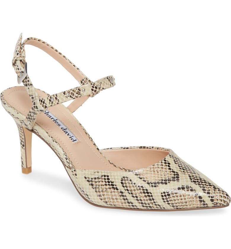 CHARLES DAVID Authority Sandal, Main, color, NATURAL SNAKE MULTI