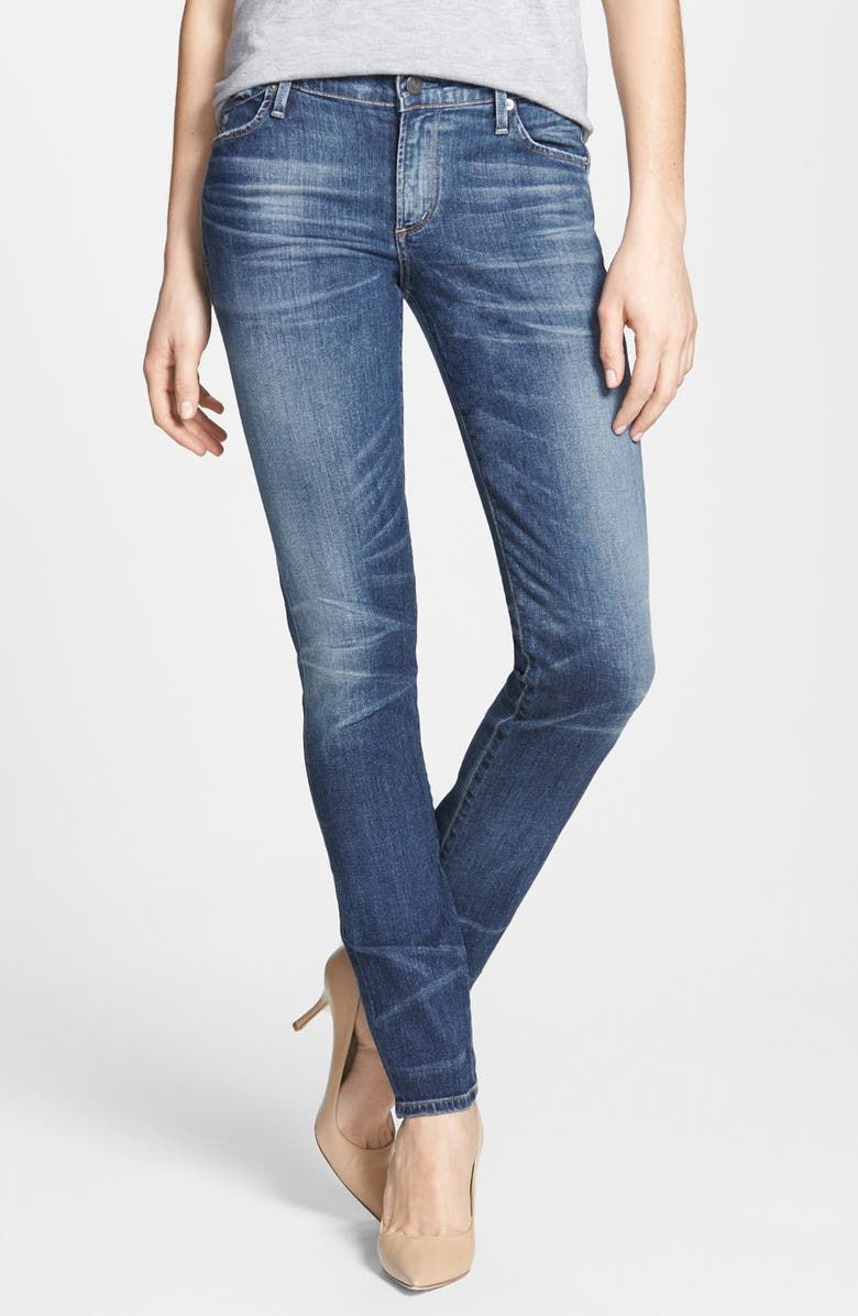 CITIZENS OF HUMANITY Whiskered Skinny Jeans, Main, color, 424