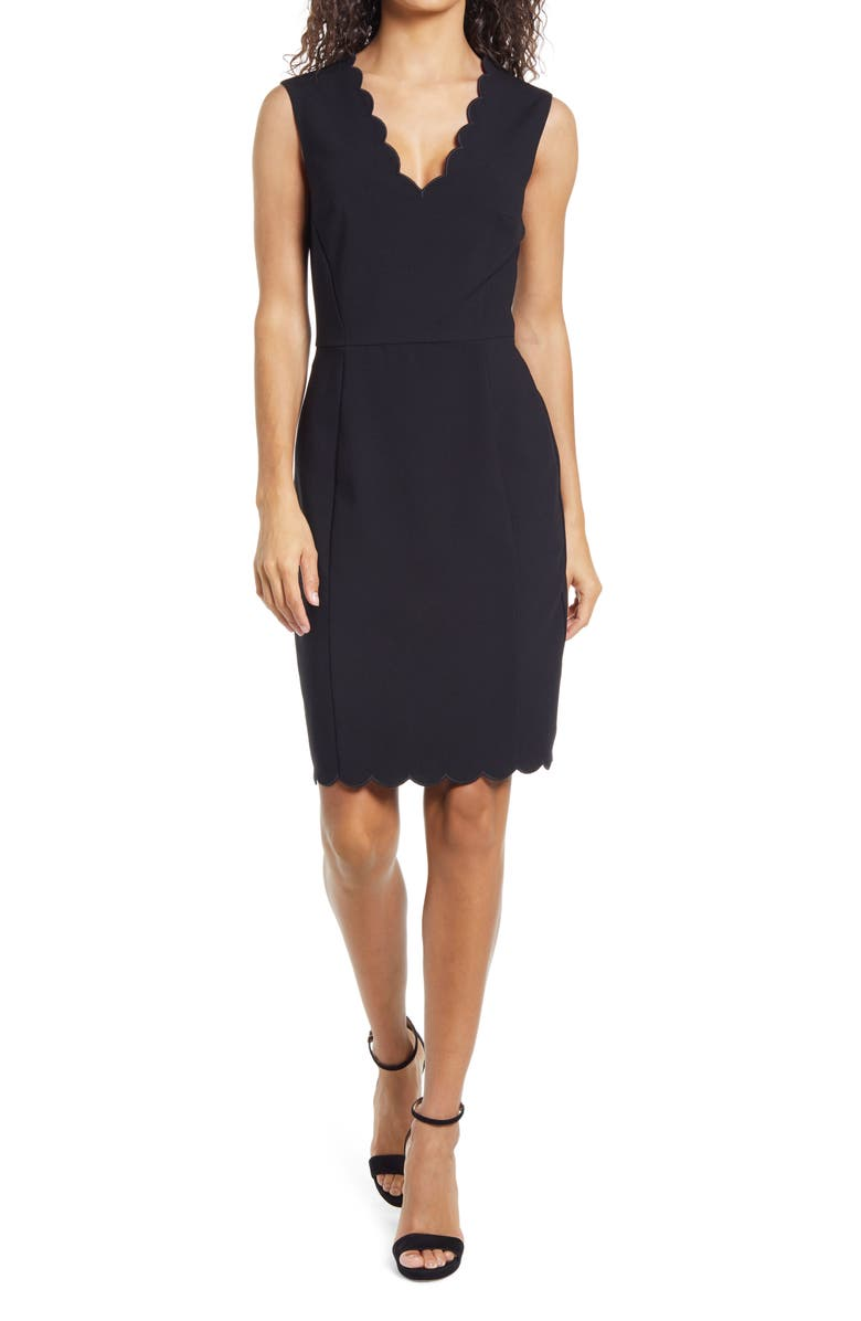 FRENCH CONNECTION Whisper Ruth Sheath Dress, Main, color, 001