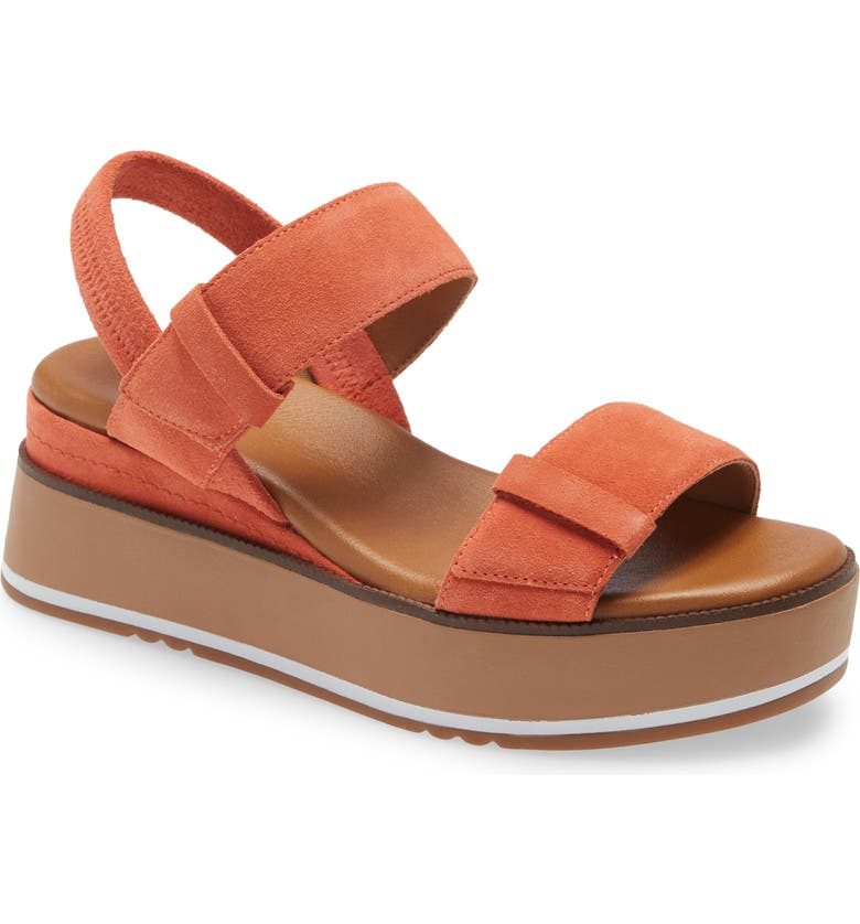 CASLON<SUP>®</SUP> Briana Platform Sandal, Main, color, ORANGE TANGERINE