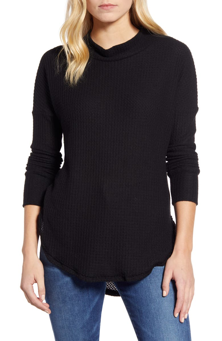 CASLON<SUP>®</SUP> Thermal Knit Tunic, Main, color, 001