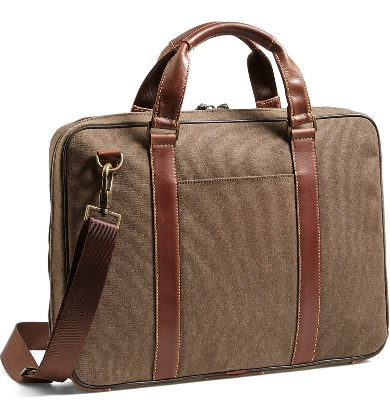 BOCONI Bryant Zipster Briefcase, Main, color, HEATHER BROWN