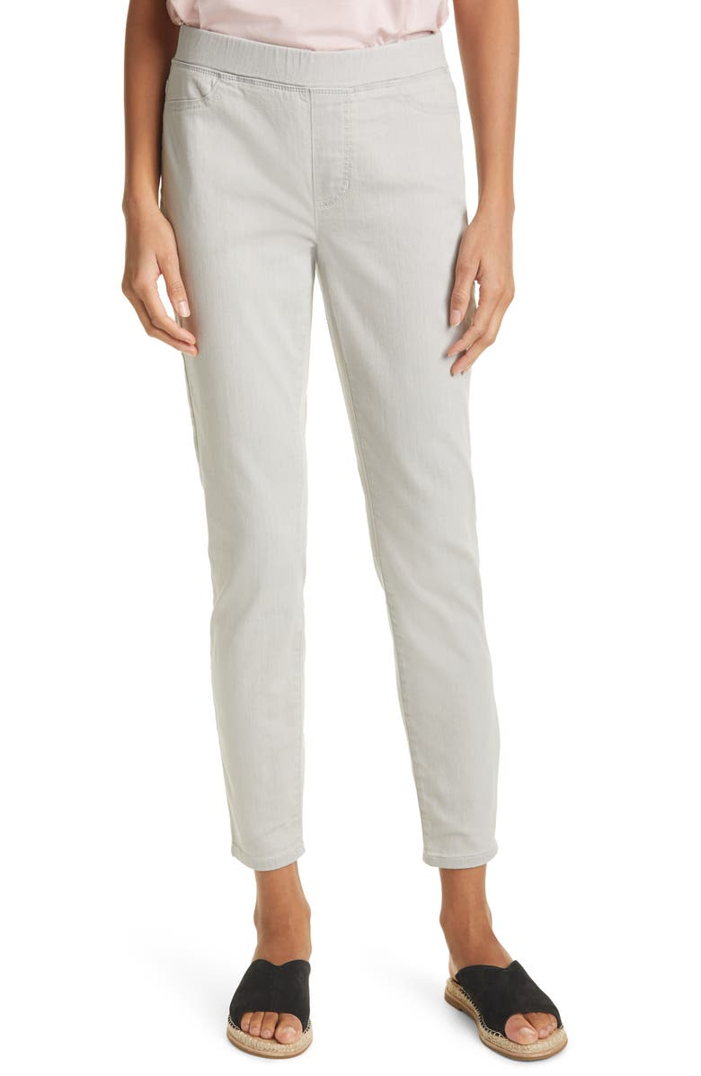 EILEEN FISHER Stretch Denim Leggings, Main, color, CEMENT