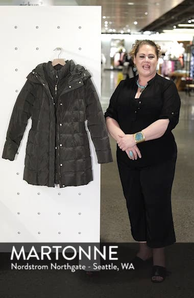 Cole Haan Hooded Down & Feather Jacket, sales video thumbnail