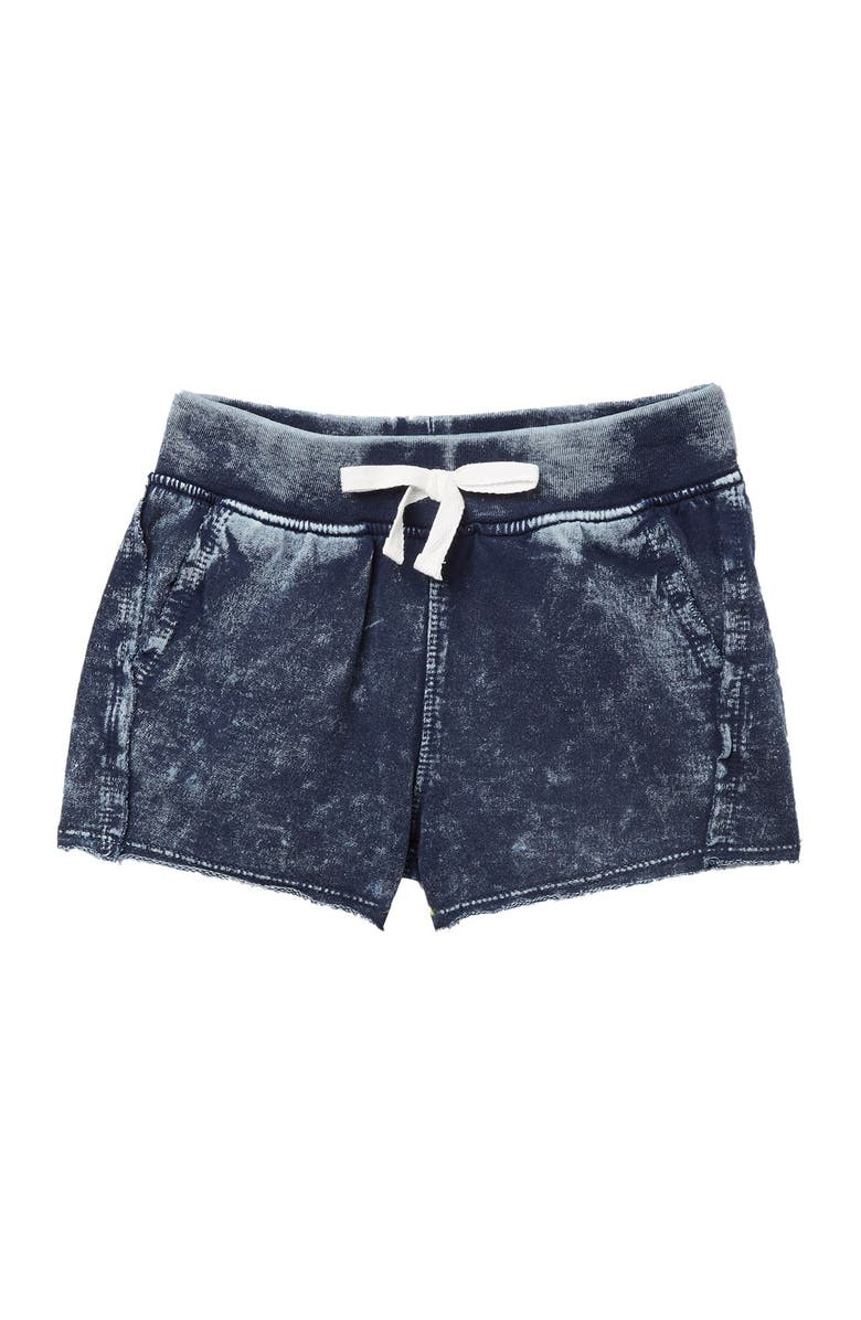 SPLENDID Mineral Wash French Terry Shorts, Main, color, WASHED BLUE