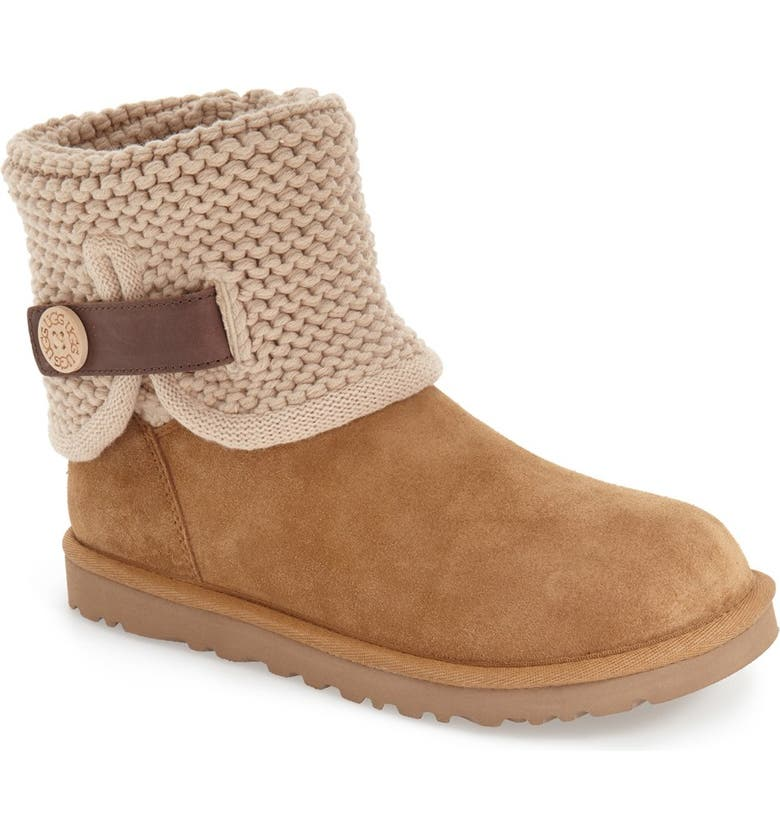 UGG<SUP>®</SUP> Shaina Knit Cuff Bootie, Main, color, 219