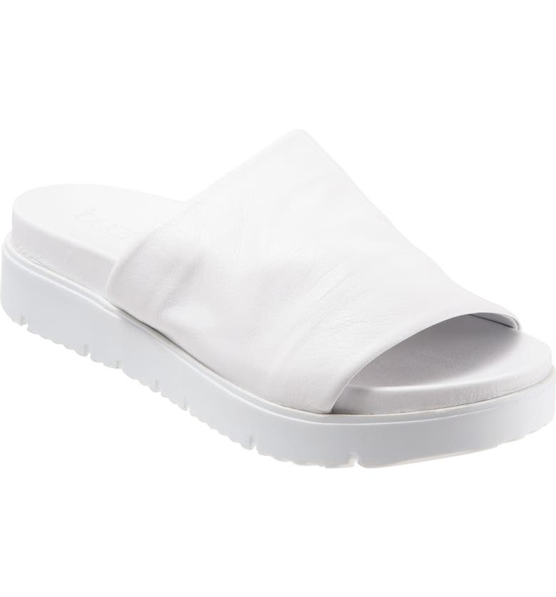 BUENO Splash Slide Sandal, Main, color, WHITE LEATHER