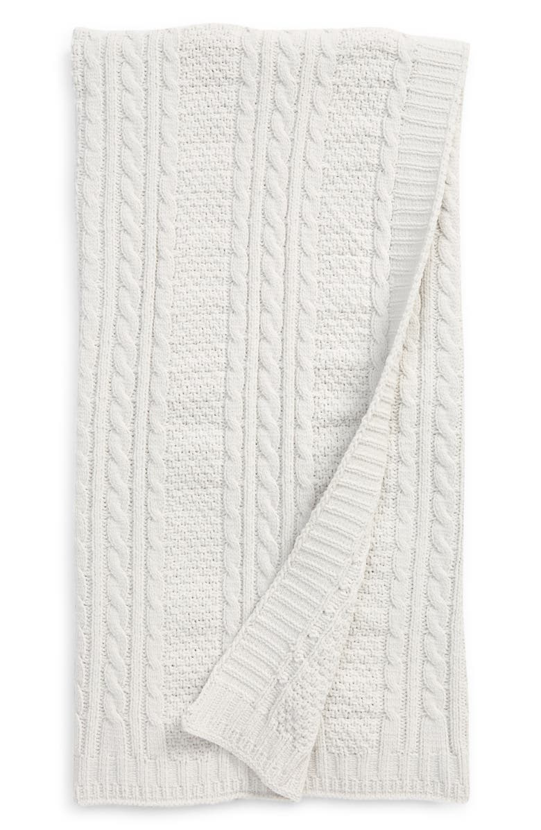 NORDSTROM Baby Cable Knit Blanket, Main, color, 030