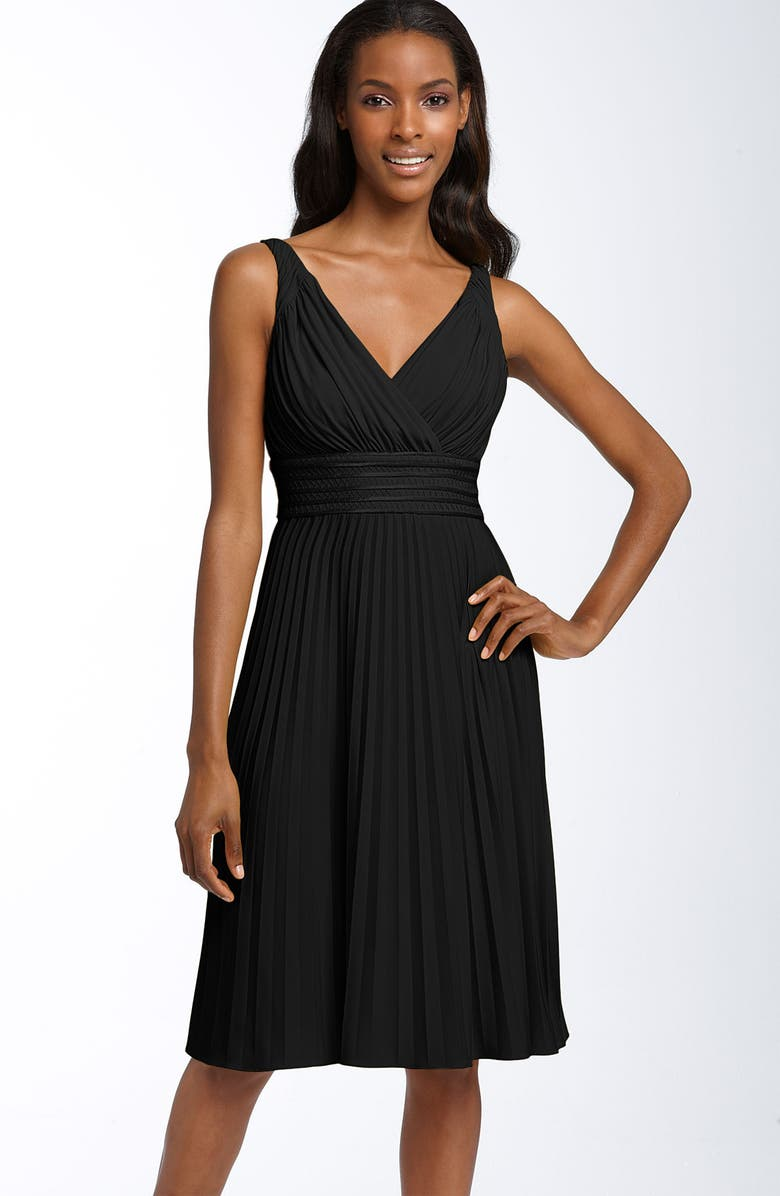 IVY & BLU Pleated Jersey Dress, Main, color, 001