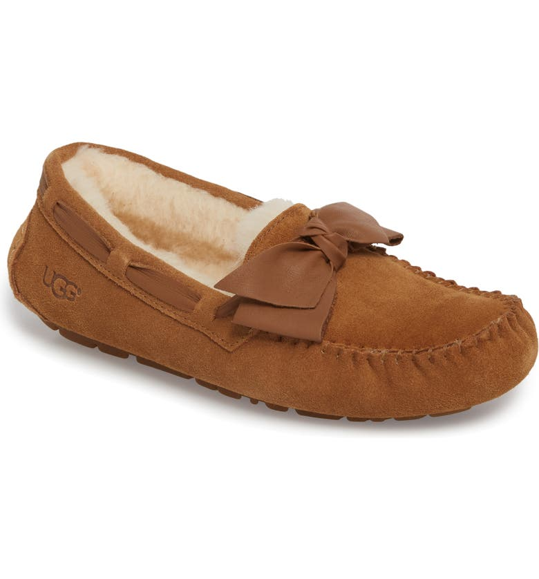 UGG<SUP>®</SUP> Dakota Bow Slipper, Main, color, 219