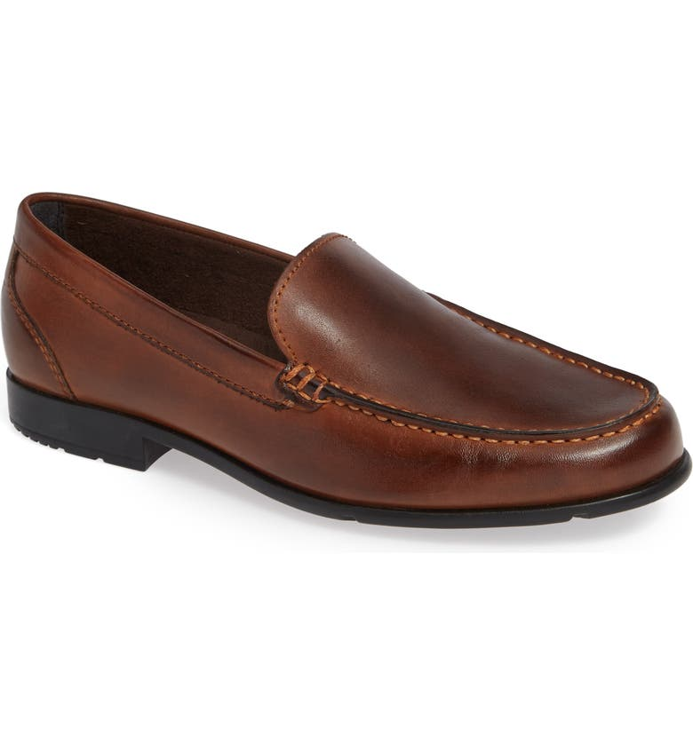 ROCKPORT Classic Venetian Loafer, Main, color, DARK BROWN LEATHER