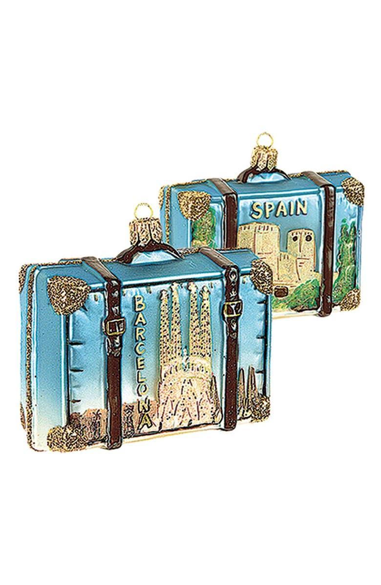 NORDSTROM at Home Travel Suitcase Ornament, Main, color, SPAIN