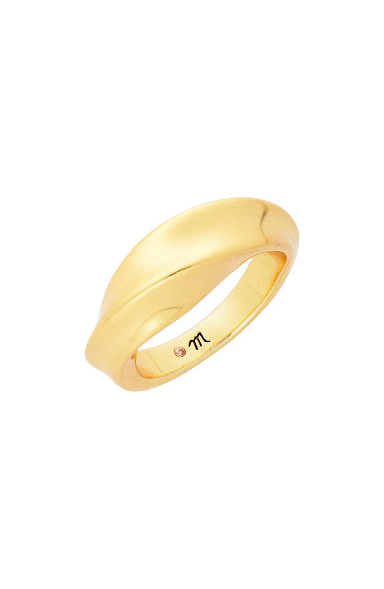 MADEWELL Archway Ring, Main, color, VINTAGE GOLD