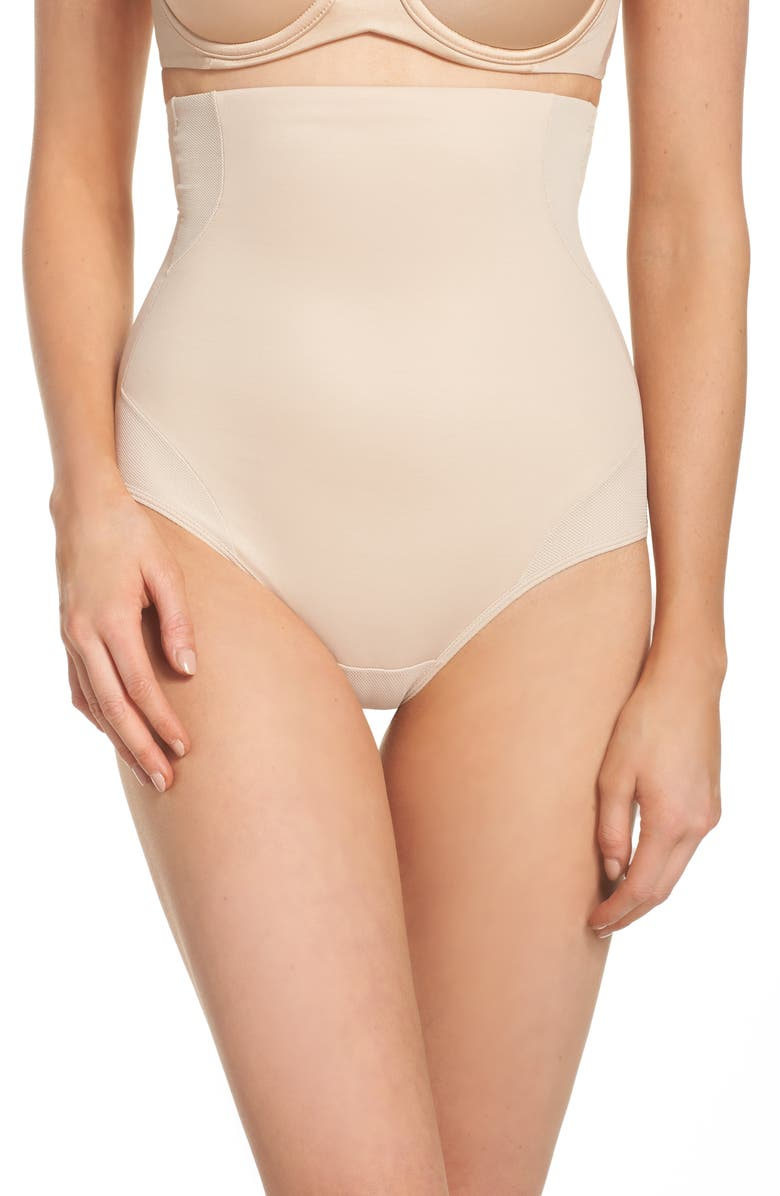 TC Cooling High Waist Shaping Briefs, Main, color, NUDE