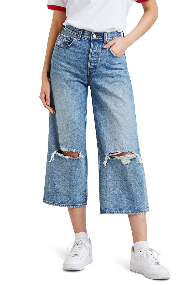 LEVI'S<SUP>®</SUP> High Water Wide Leg Jeans, Main, color, 420