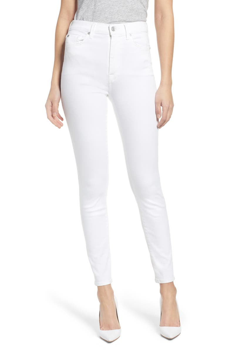 7 FOR ALL MANKIND High Waist Ankle Skinny Jeans, Main, color, 102