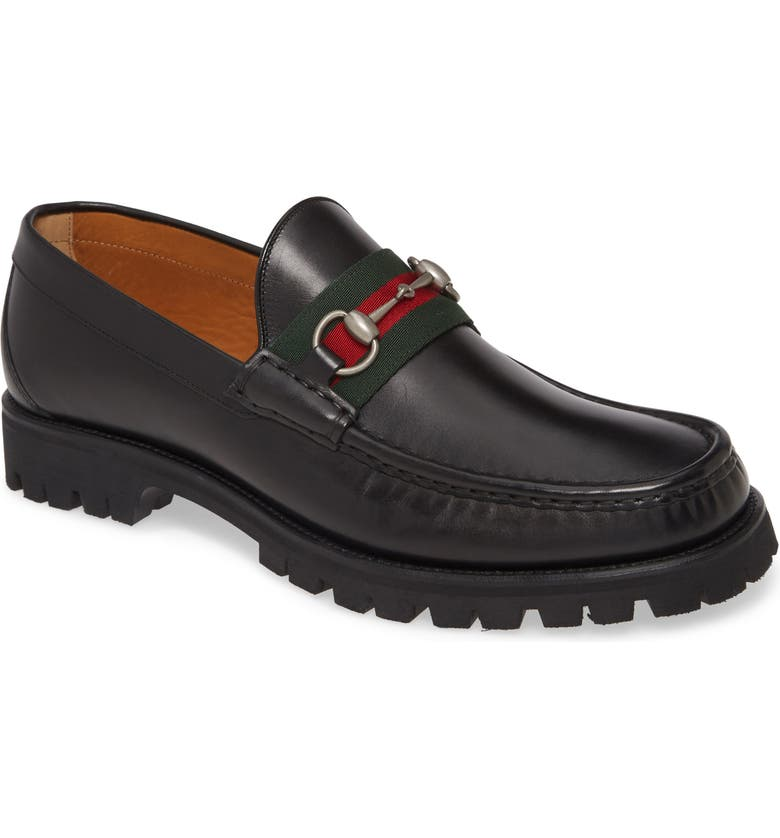 GUCCI Bit Lug Loafer, Main, color, NERO