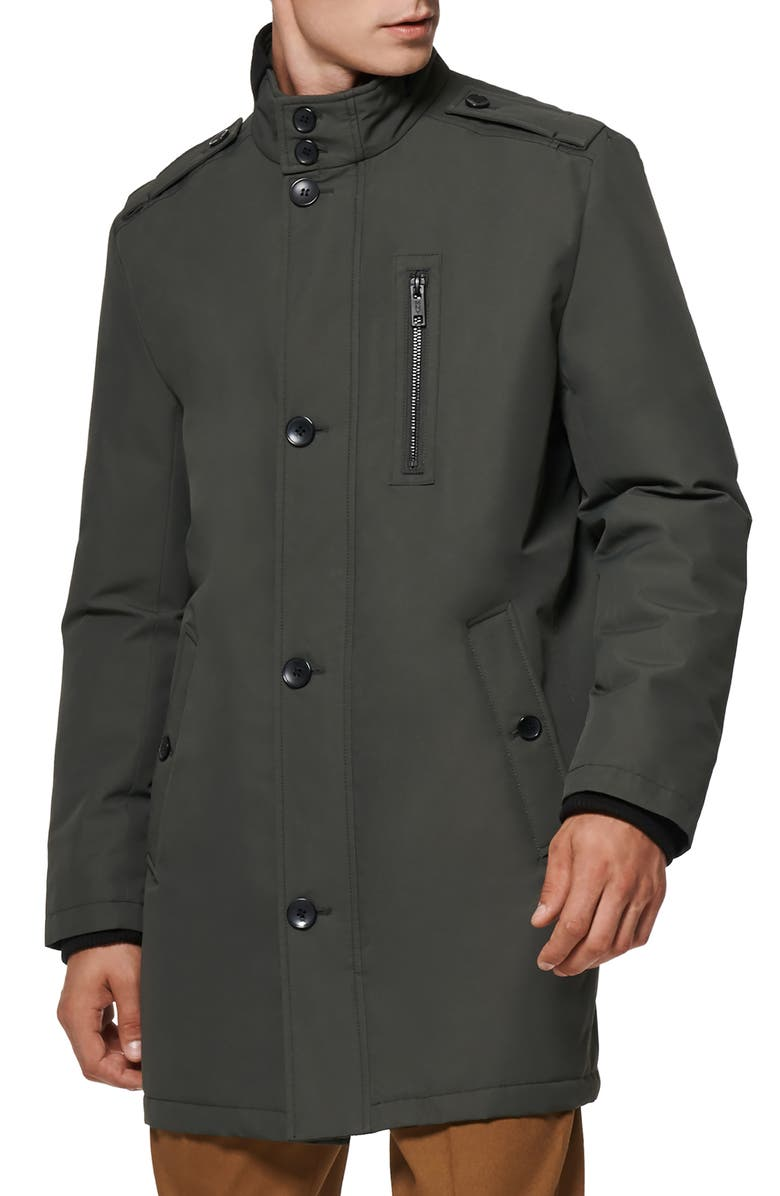 MARC NEW YORK Cullen Oxford Car Coat, Main, color, SMOKE