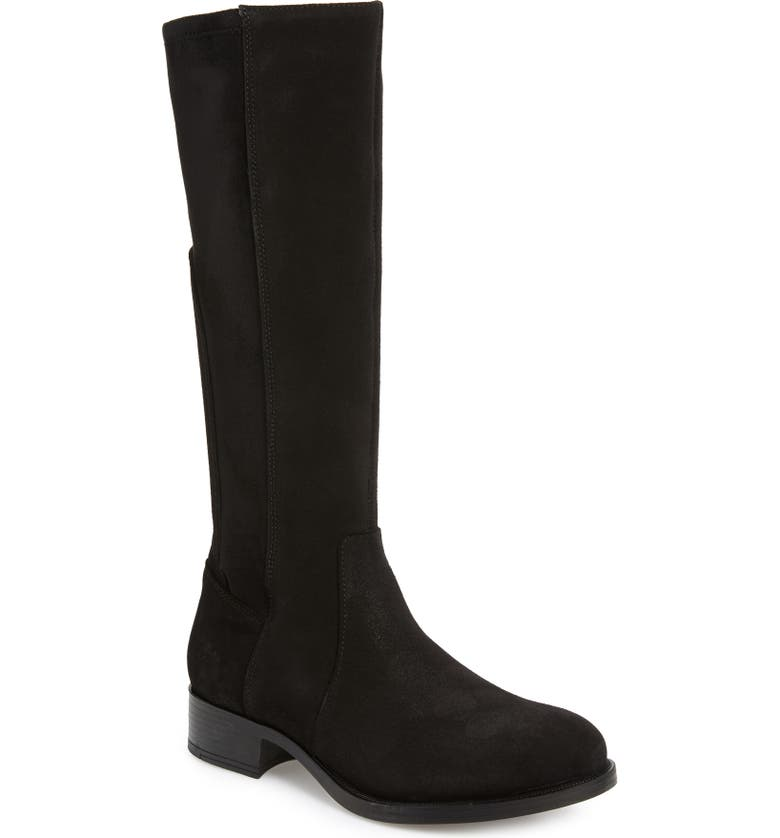 BOS. & CO. Beau Tall Waterproof Boot, Main, color, BLACK SUEDE