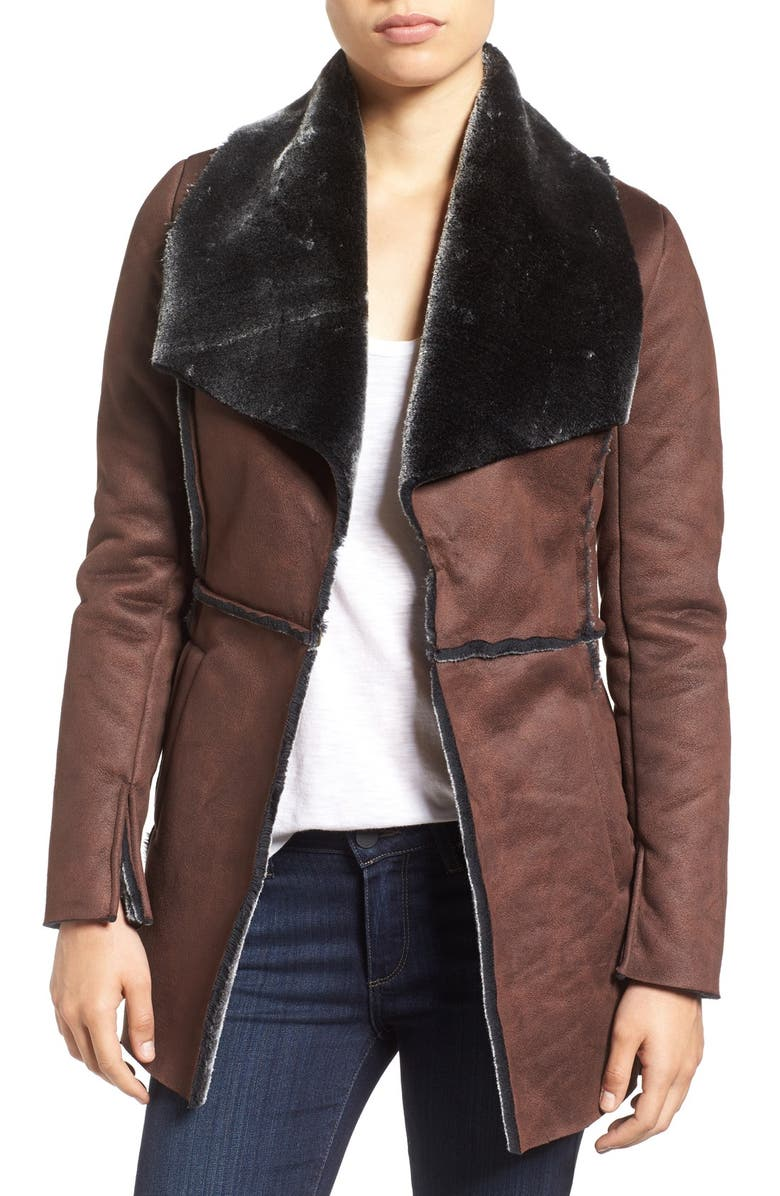 KUT FROM THE KLOTH 'Abigail' Faux Shearling Coat, Main, color, 201