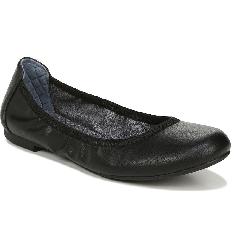 DR. SCHOLL'S Feel Good Flat, Main, color, BLACK FAUX LEATHER