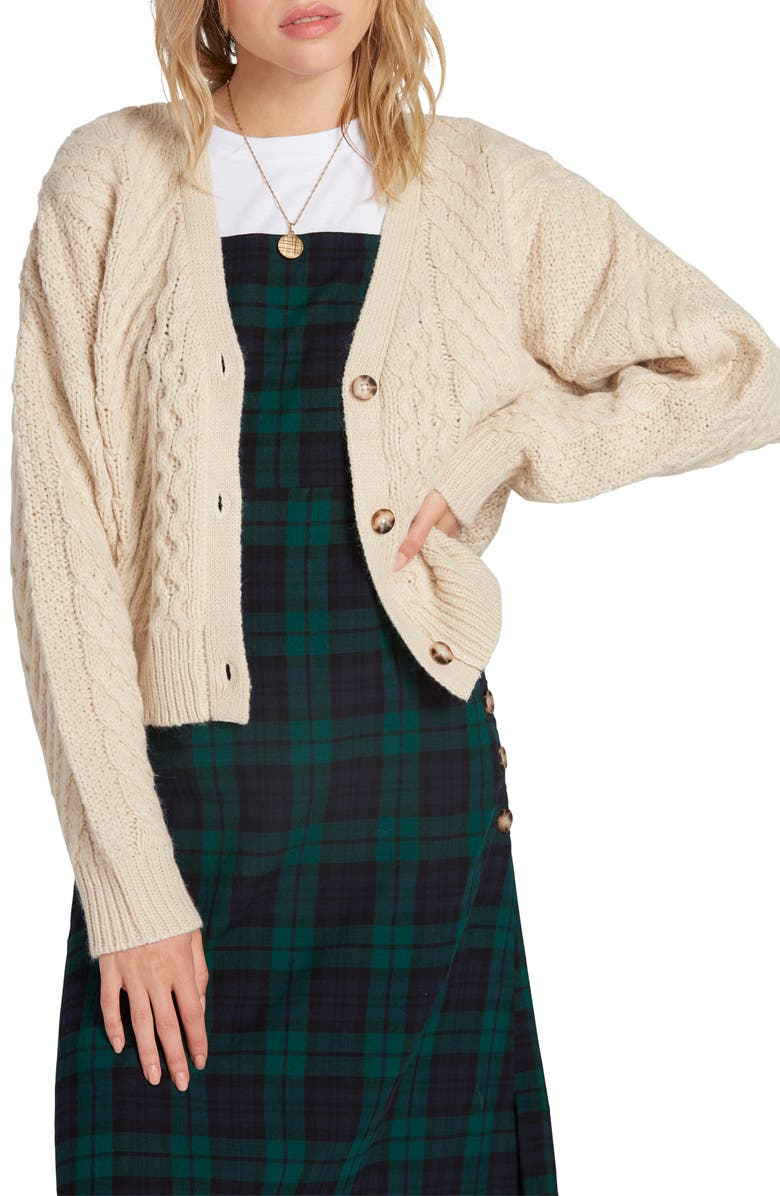 VOLCOM Bettergetter Cable Cardigan, Main, color, 273