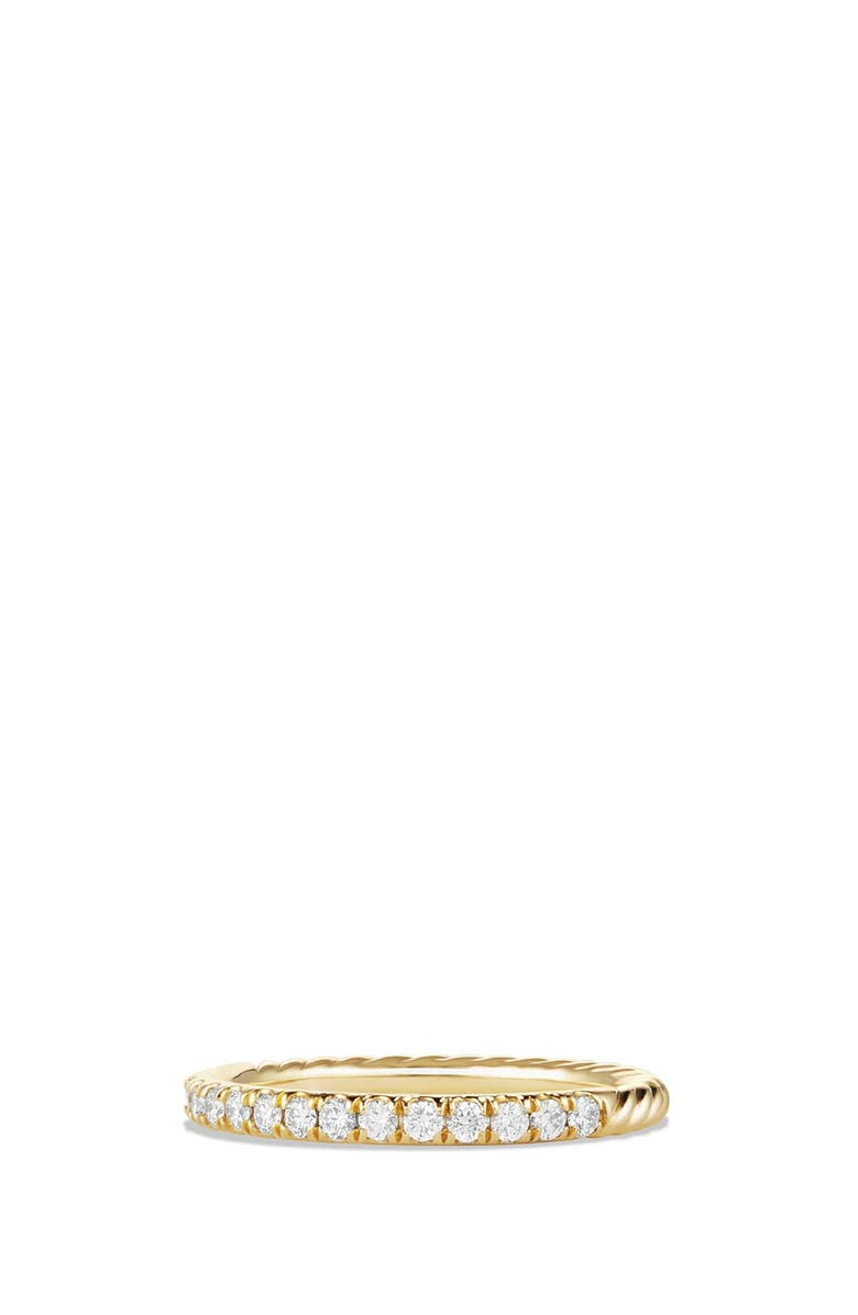 DAVID YURMAN Cable Ring with Diamonds in 18K Gold, Main, color, GOLD
