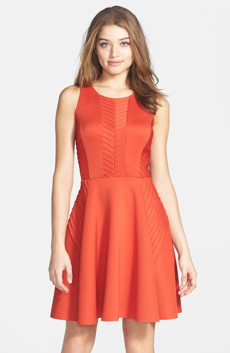 IVY & BLU Woven Fit & Flare Dress, Main, color, 801
