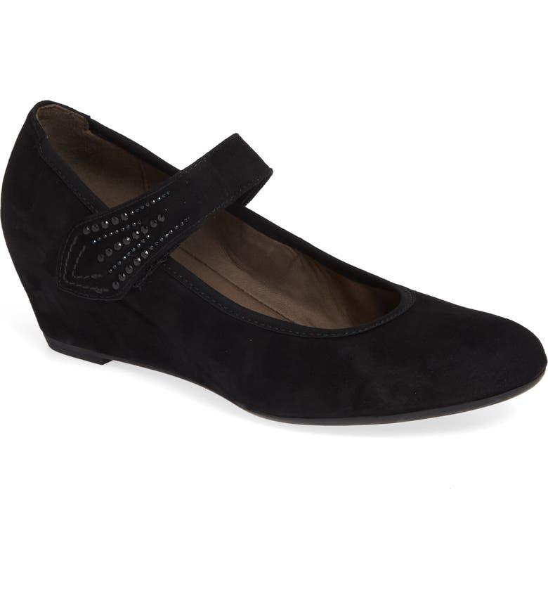 GABOR Sacchetto Mary Jane Pump, Main, color, BLACK SUEDE