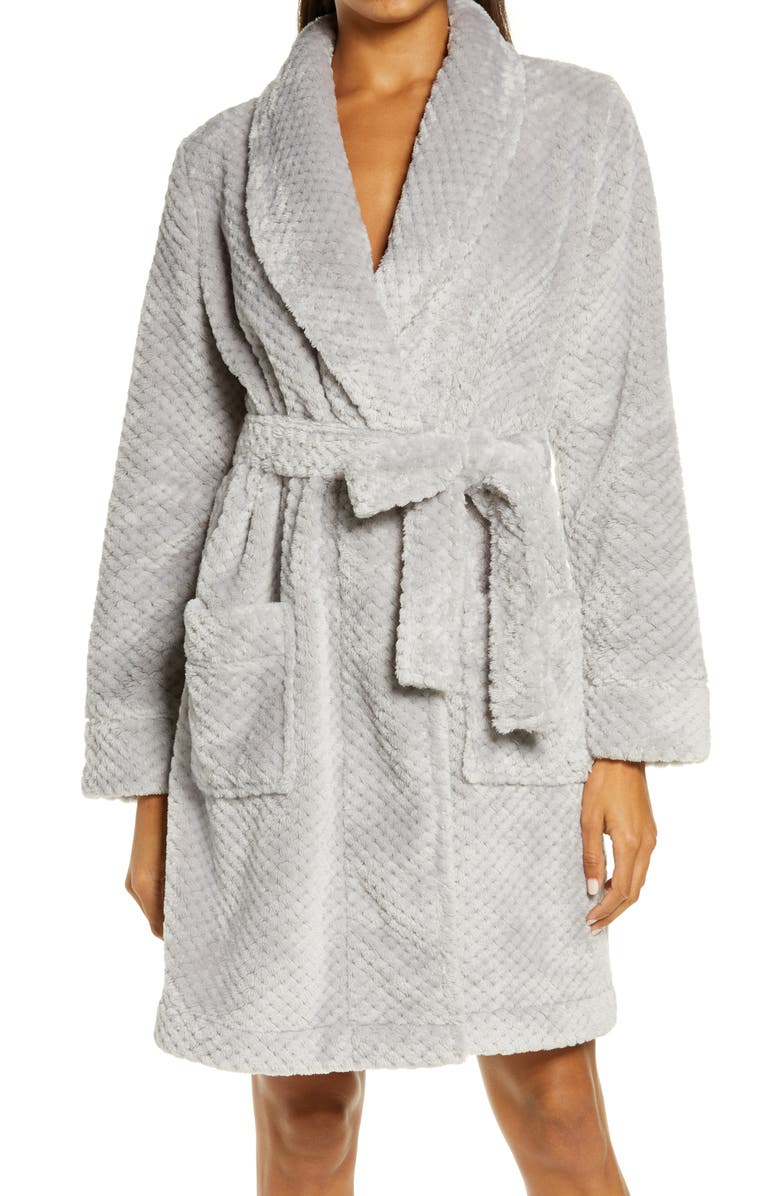 NORDSTROM Textured Short Robe, Main, color, 050