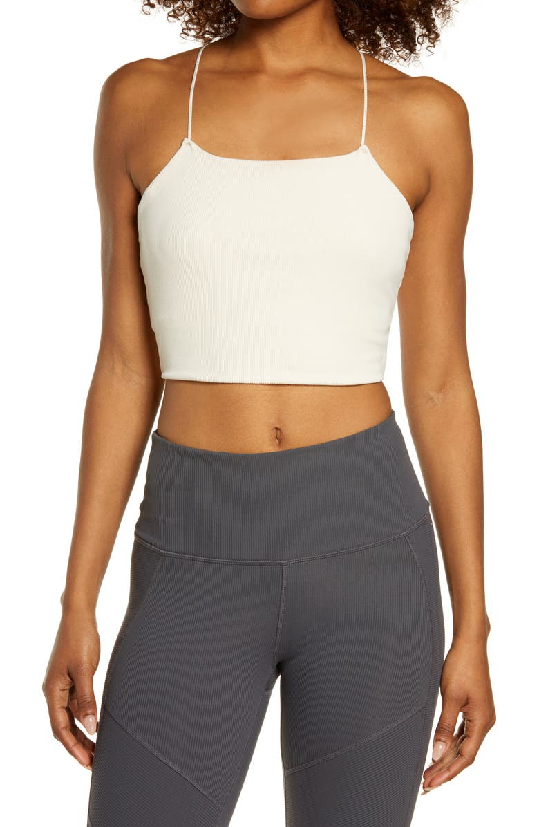 NIKE Yoga Luxe Strappy Crop Camisole, Main, color, PEARL WHITE/ SAIL